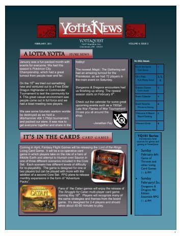 Vol. 4 Issue 2 February 2011 - Yottaquest