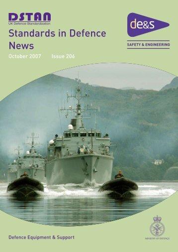 Standards in Defence News - Iain Macleod Associates