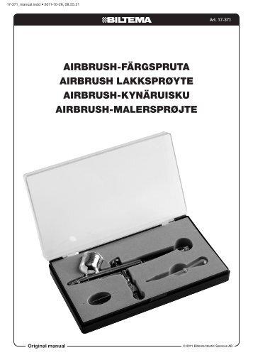AIRBRUSH-FÄRGSPRUTA AIRBRUSH LAKKSPRØYTE ... - Biltema