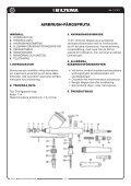 AIRBRUSH-FÄRGSPRUTA AIRBRUSH LAKKSPRØYTE ... - Biltema - Page 2