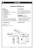 AIRBRUSH-FÄRGSPRUTA AIRBRUSH LAKKSPRØYTE ... - Biltema - Page 4