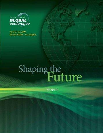 Shaping the - Milken Institute