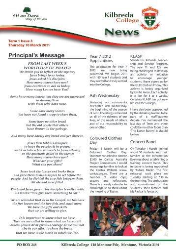 Newsletter Issue 3 - Kilbreda College
