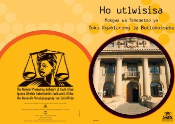 Sotho version - National Prosecuting Authority