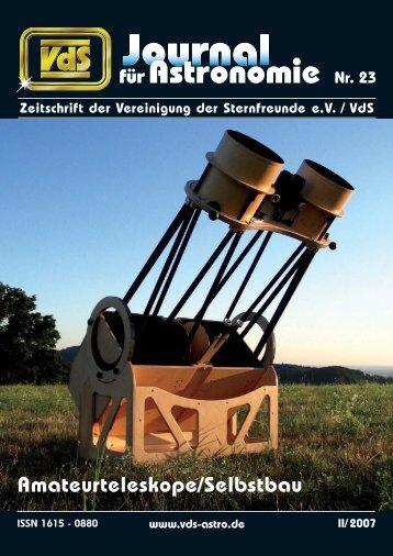 für Astronomie Nr. 23 für Astronomie - VdS-Journal