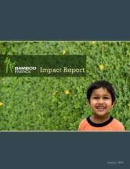 Read Impact Report. - Bamboo Finance