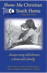informational brochure 11.indd - Show-Me Christian Youth Home