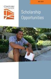 Scholarship Opportunities - Century College