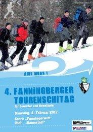 "Samstag, 4. Februar 2012 Start: ""Fanningerwirt"" Ziel: ""Gamsstadl"""