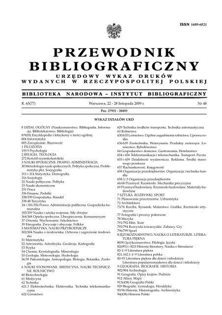 Przewodnik Bibliograficzny Biblioteka Narodowa