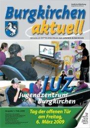 Ausgabe 1, Februar 2009 - Gemeinde Burgkirchen