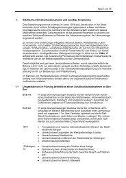 1. Städtisches Schallschutzprogramm und sonstige ... - Karlsruhe
