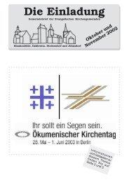 Die Einladung - Evangelischer Kirchenkreis Zossen-Fläming
