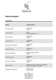 Referenzobjekte - B+S Elektro Engineering AG