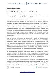 PM_Baustart für Residenz Wohnen am Spittelmarkt - Groth Gruppe