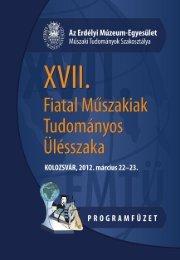 A XVII. FMTÜ (2012) programfüzete itt tölthető le