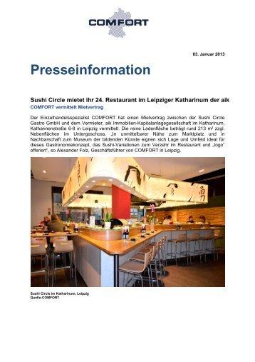 Sushi Circle mietet ihr 24. Restaurant - comfort.de