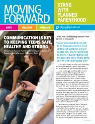 Moving Forward - Planned Parenthood