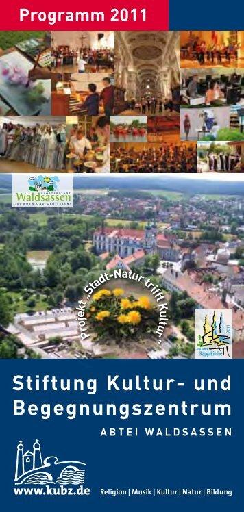 Programm 2011 - und Begegnungszentrum Abtei Waldsassen