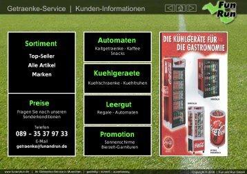 Getränkelieferservice München Kundeninfo - FUN and RUN GmbH