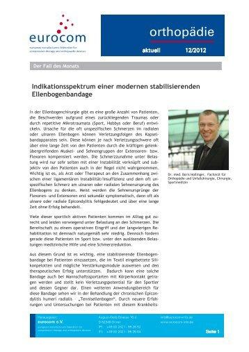 orthopädie aktuell Dezember 2012 - eurocom