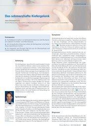 Das schmerzhafte Kiefergelenk - Swiss Medical Forum