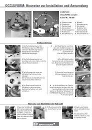 OCCLUFORM: Hinweise zur Installation und Anwendung - Erkodent