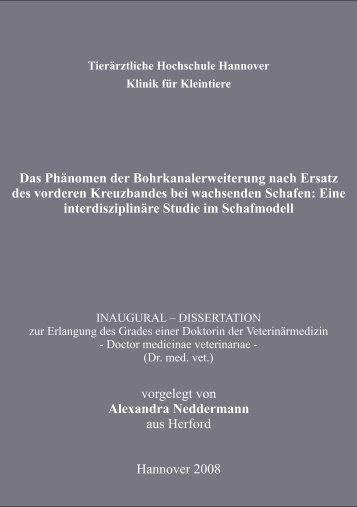 Bibliografische Informationen der Deutschen - Stiftung Tierärztliche ...