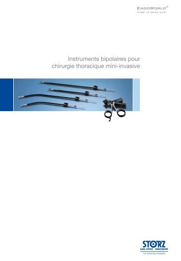 Instruments bipolaires pour chirurgie thoracique mini ... - Karl Storz