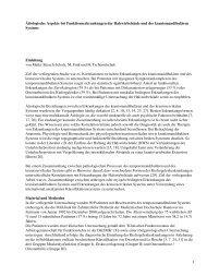 Ätiologische Aspekte bei Funktionserkrankungen der ... - Spitta