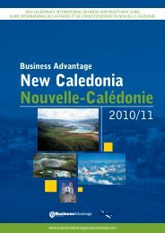 New Caledonia Nouvelle-Calédonie - Business Advantage ...