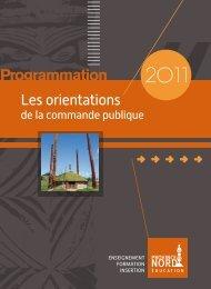 Programmation 2011 - Province Nord