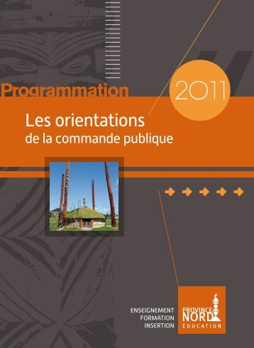Programmation 2011 - Province Nord
