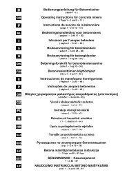 Bedienungsanleitung für Betonmischer Operating instructions ... - Atika