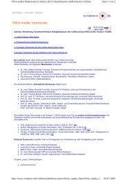 Seite 1 von 2 Otitis media Impressum [evidence.de] Evidenzbasierte ...