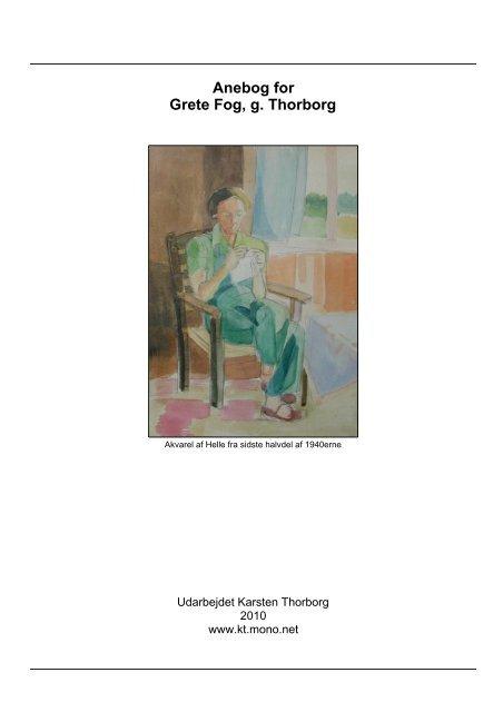 Anebog for Grete Fog - Thorborg - Liisberg Hjemmeside - mono