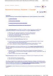 Seite 1 von 2 Gallensteine Impressum [evidence.de ...