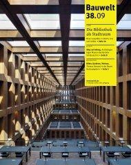 Bauwelt 38. - KARO* architekten