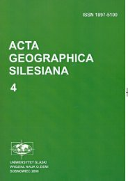 ACTA GEOGRAPHICA SILESIANA I