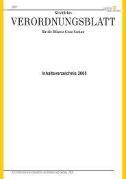 KVBl 2005 Inhalt - Katholische Kirche Steiermark