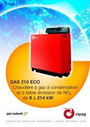 GAS 210 ECO Chaudière à gaz à condensation et à faible ... - Cipag