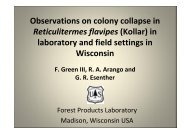 Observations on colony collapse in Reticulitermes flavipes (Kollar ...