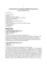 Liste von Handschriften der Signaturengruppe - Staatliche ...