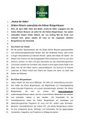 """""""Kohle für Kölle"""" Gilden Kölsch unterstützt die Kölner Bürgerhäuser"""