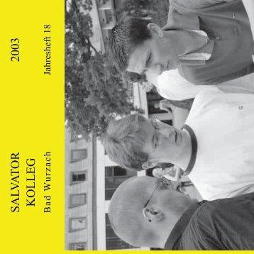 SA LV A T O R K O L L E G 2003 - Aktuell