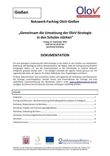 Dokumentation Fachtag Grünberg.pdf - Ausbildung in Gießen