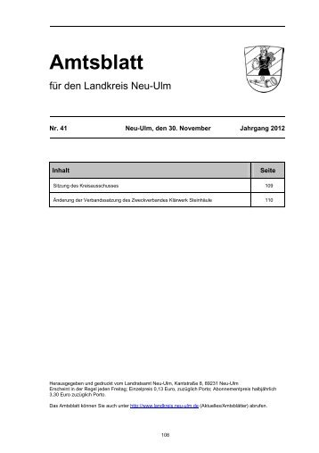Amtsblatt - Landkreis Neu-Ulm