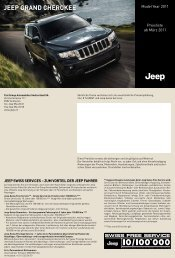 JEEP GRAND CHEROKEE - City Garage Wettingen