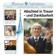 Mattseer Stiftsblätter - Stift Mattsee