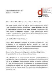 Dezember 2012 - Deutsche Gesellschaft eV